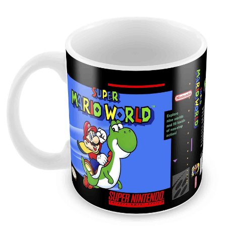 Caneca Branca - SNES - Super Mario World