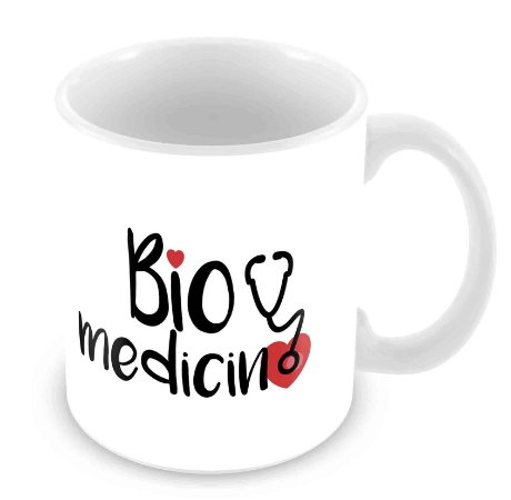 Caneca Branca - Profissões - Biomedicina