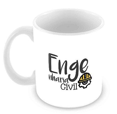 Caneca Branca - Profissões - Engenharia Civil
