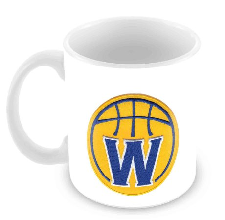 Caneca Branca - NBA - Golden State Warriors