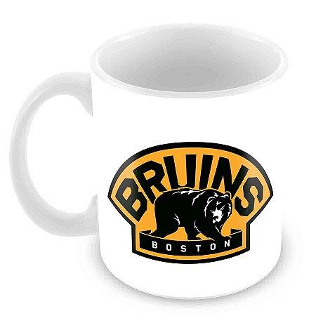 Caneca Branca - NHL - Bruins