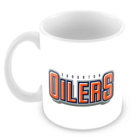 Caneca Branca - NHL - Oilers