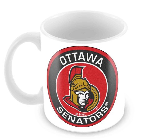 Caneca Branca - NHL - Senators