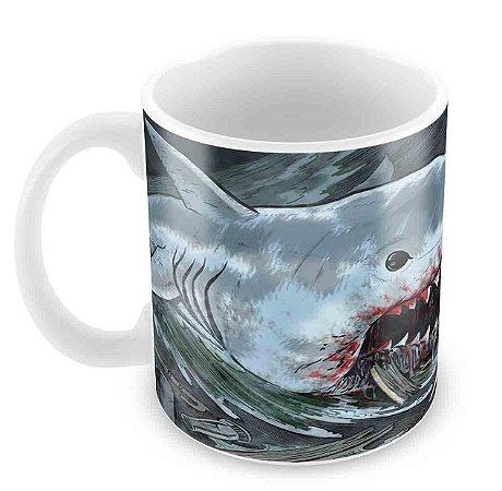 Caneca Branca - Jaws - Tubarão