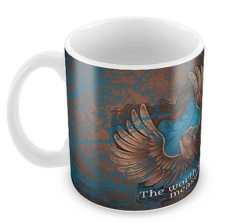 Caneca Branca - Harry Potter - Corvinal(Ravenclaw)