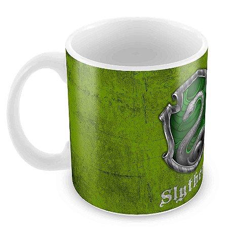 Caneca Branca - Harry Potter - Sonserina(Slytherin) - Logo 2