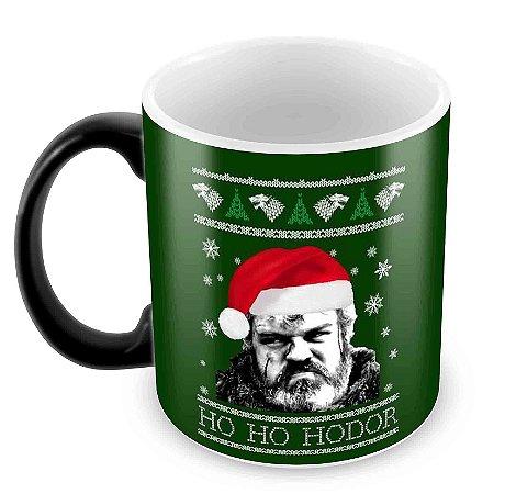 Caneca Mágica - Natal - Game of Thrones - Hodor Xmas
