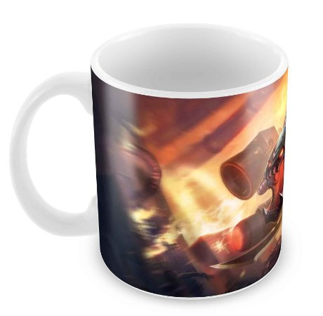 Caneca Branca - League of Legends - Cho'Gath