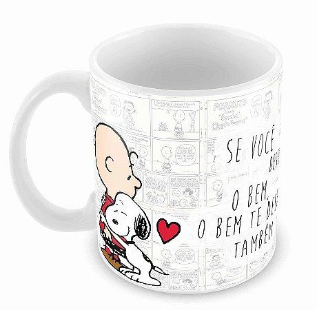 Caneca Branca - Snoopy - Bem