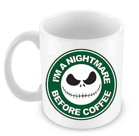 Caneca Branca - Nightmare Before Coffee