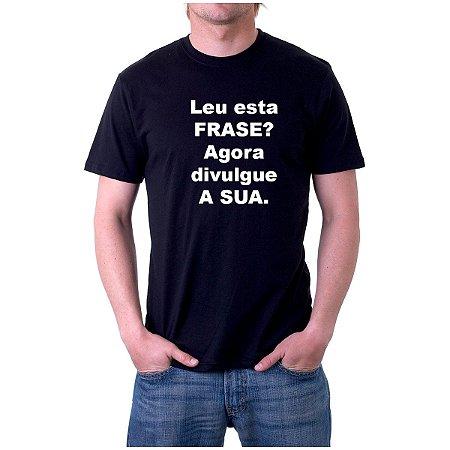 Camiseta preta com frases |Camiseta Personalizada
