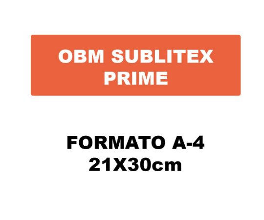 Obm Sublitex Prime A4 – Termocolante para Camisetas Escuras