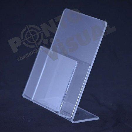 Porta Folheto de mesa com bolso Acrílico
