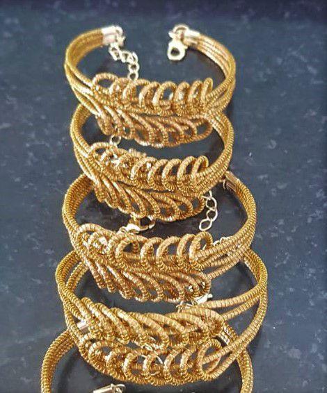 Bracelete BC3 Capim Dourado