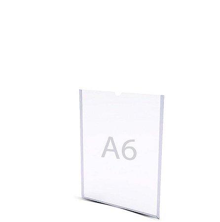 Display A6 Parede Acrílico A 15cm x L 10cm  Dupla Face
