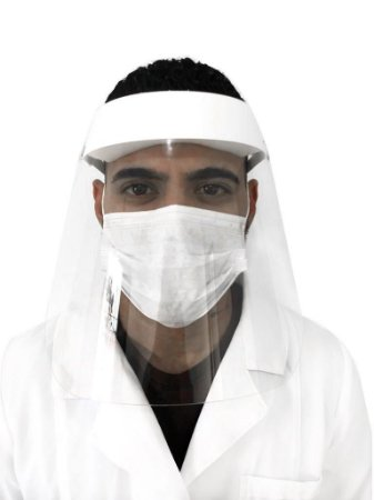 Máscara Facial Protetora Anti Cuspir Respingos - Kit 100 Pçs