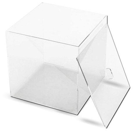 Caixa Acrílica Rebaixo  c/ Cristal 3mm – A 20cm x L 20cm x P 20cm