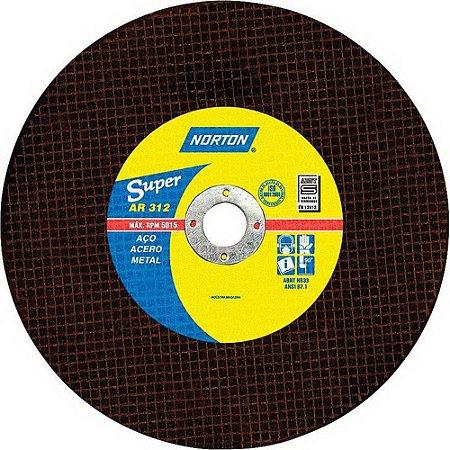 DISCO DE CORTE 10X1 AR312 NORTON (254X3,2X25,40)