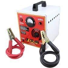 Carregador de baterias 50/a 12 v. 1 relógio c/seletora portátil.