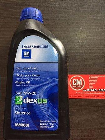 ÓLEO 5W20 ORIGINAL GM - DEXOS - S10 FLEX 2016