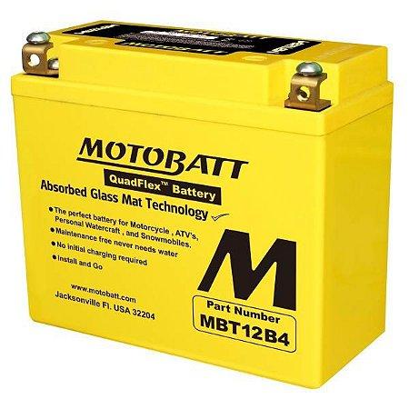 Bateria Motobatt Mbt12b4 11ah para Yamaha FZ6 Fazer XJ6-F e Dragstar XVS 650