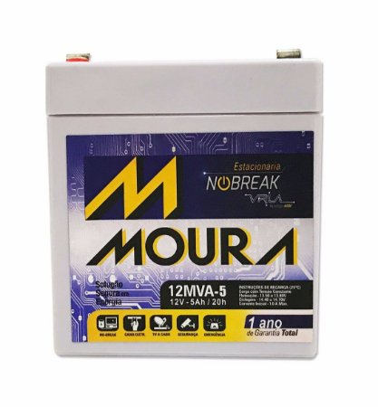 Bateria Estacionaria Moura 12v 5ah Nobreak Vrla Sms/apc/
