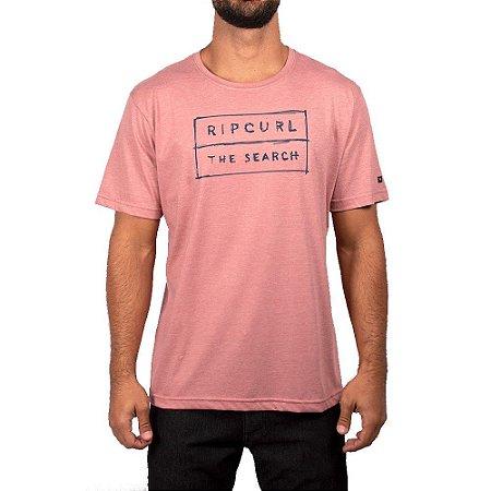 Camiseta Rip Curl Boxed Tee Masculina Rosa Mescla