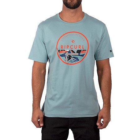 Camiseta Rip Curl Corp Yard Tee Masculina Azul Claro