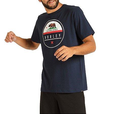 Camiseta Hurley Silk California Masculina Azul Marinho