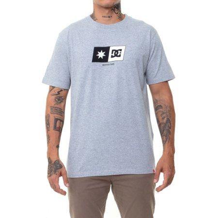 Camiseta DC Shoes Star Box Masculina Cinza