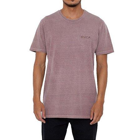 Camiseta RVCA Small Pigment Dye Masculina Marrom