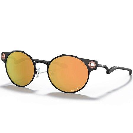 Óculos de Sol Oakley Deadbolt Satin Blk W Pzm Rose Gold Plzd