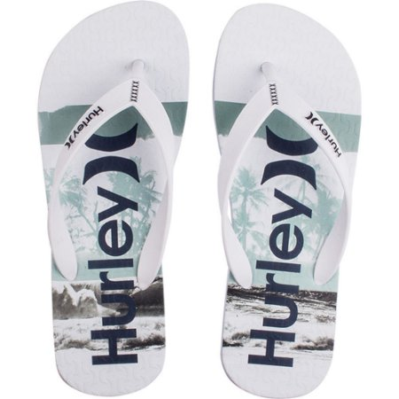 Chinelo Hurley Pool Side Branco/Branco