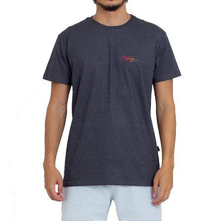 Camiseta Billabong Crayon Wave II Masculina Cinza Escuro