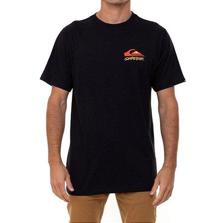 Camiseta Quiksilver Fantasy Beach Masculina Preto