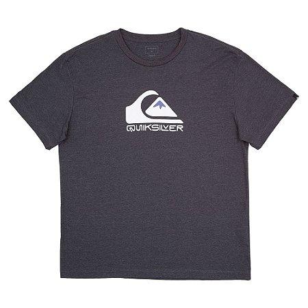 Camiseta Quiksilver Square Me Up Plus Size Masculina Cinza Escuro