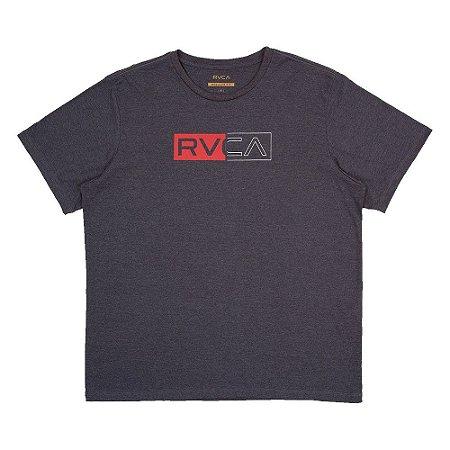 Camiseta RVCA Divider Plus Size Masculina Cinza Escuro
