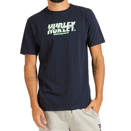 Camiseta Hurley Silk Photo CZ6072 Masculina Azul Marinho