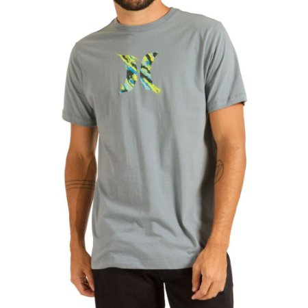 Camiseta Hurley Silk Icon Smoke Masculina Cinza