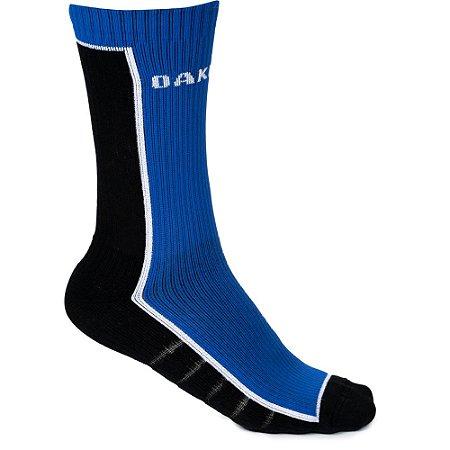 Meia Oakley Color Crew Sock Cano Alto Azul/Preto