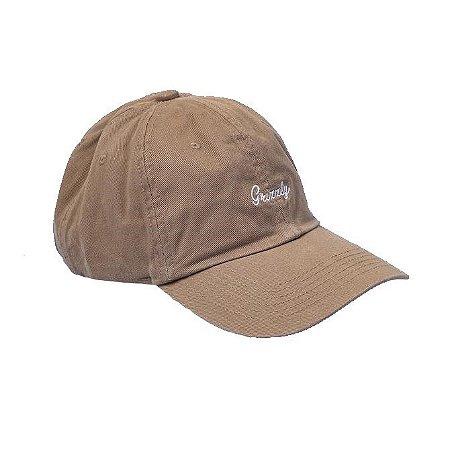 Boné Grizzly Aba Curva Cursive Embroidery Dad Hat Caqui