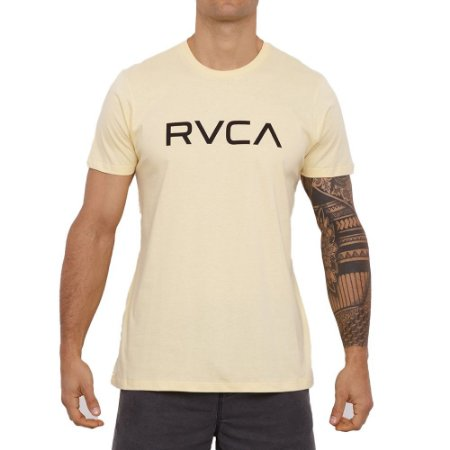 Camiseta RVCA Big RVCA Masculina Amarelo