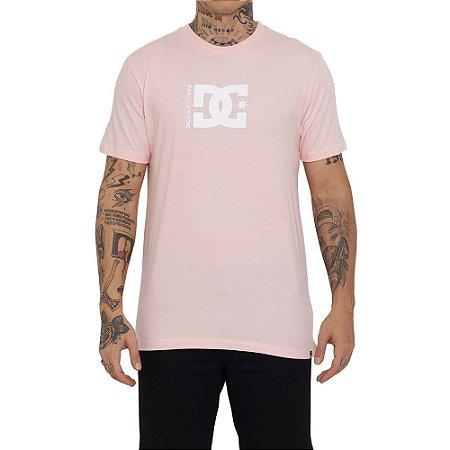 Camiseta DC Shoes Star Windows Masculina Rosa Claro
