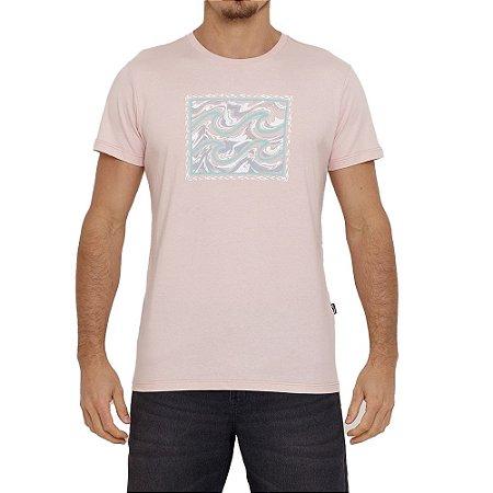 Camiseta Billabong Crayon Wave IV Masculina Rosa