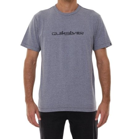 Camiseta Quiksilver Lettering Masculina Cinza