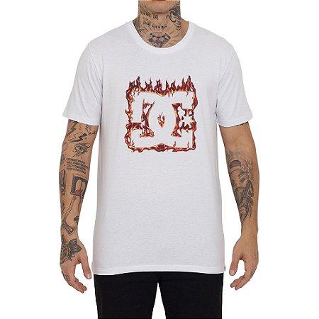 Camiseta DC Shoes DC Fuego Masculina Branco