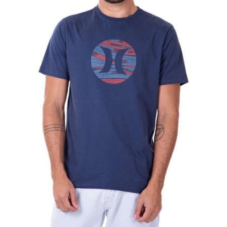 Camiseta Hurley Layers Masculina Azul Marinho