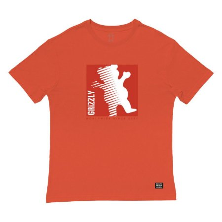 Camiseta Grizzly On The Grind SS Masculina Laranja