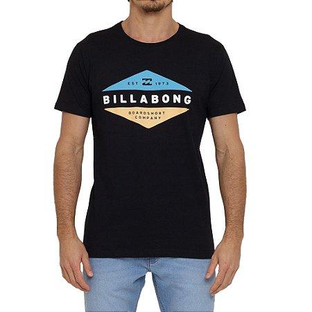 Camiseta Billabong Level Masculina Preto