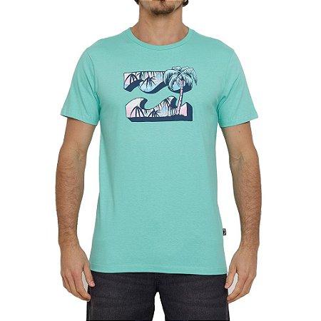 Camiseta Billabong Crayon Wave VI Masculina Verde